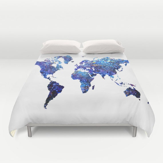 monde carte couette couverture globe couette carte de la. Black Bedroom Furniture Sets. Home Design Ideas