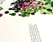 Modern Ketubah Tree giclee print - Spring Tree of Life by OnceUponaPaper