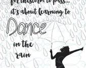 Adult Inspirational Coloring Page printable 11-Dance in the Rain