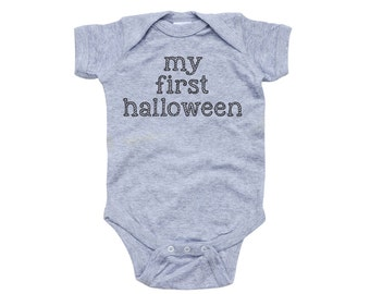 """Apericots """"My First Halloween"""" Fun Cute Adorable Unisex Soft Cotton Baby Creeper"""