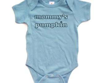 "Apericots Cute ""Mommy's Pumpkin"" Fun Halloween Unisex Soft Cotton Baby Creeper"