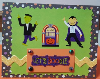 Halloween Let's Boogie Greeting Card