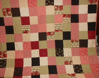King Size Quilt Queen Size quilt Scrappy flannel 116