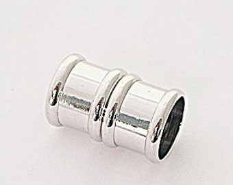 10 Millimeter End Caps, Silver Plated Magnetic End Cap, Glue in End Cap, Cord Ends