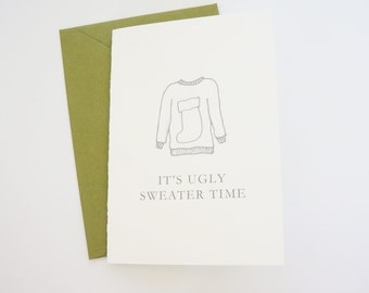 Funny Holiday Card, Funny Christmas Card, Ugly Sweater Party, Funny Card, Christmas Card, Holiday Card
