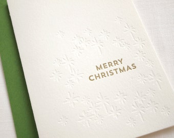 Gathered Stars Letterpress Holiday Card - Box of 6