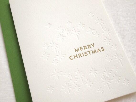 SALE Gathered Stars Letterpress Holiday Card - Box of 6