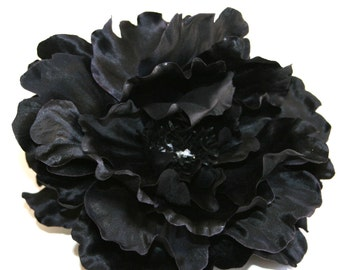 Black Boutique Peony - Artificial Flower - Silk Flower