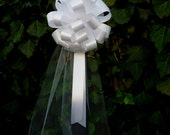 10 White Pew Pull Bows Tulle Beach Wedding Decorations Church Aisle