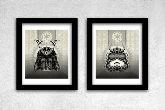 Star Wars Steampunk Samurai Art Prints by Sherrie Thai