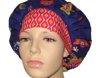 Scrub Hats - Purple Petalmania