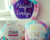 Customised patchwork ball, unique gift