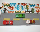 Matchbox Car Caddy and Road to go - WHITE - small size