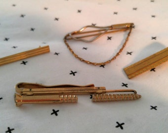 Set of 4 Vintage Tie Bars