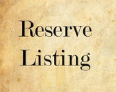 Reserve Listing for Catherine Jones