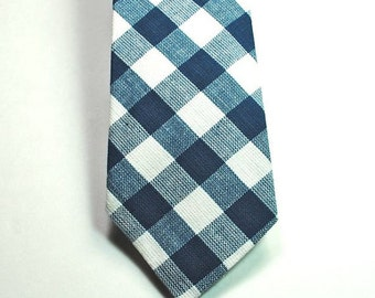 Teal Plaid Necktie Teal Neckties Mens Neckties Custom Neckties, Wedding Neckties, Teal Neckties