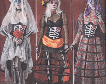 Simplicity Pattern 1033 Elaine Heigl Designs The Day of the Dead, El Dia de los Muertos Costumes Misses' Sizes 6 - 14
