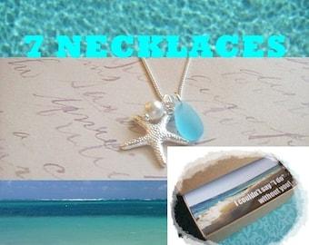 7 STARFISH NECKLACES JEWELRY Gifts - Starfish Jewelry Bridesmaid Necklace Jewelry - 7 Starfish Necklaces, Bridesmaid Jewelry, 7 Necklaces