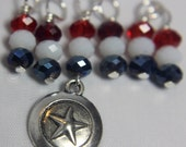 House Sock: Captain America Stitch Markers