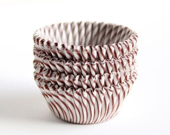 MINI Brown Stripe Cupcake Liners (60)