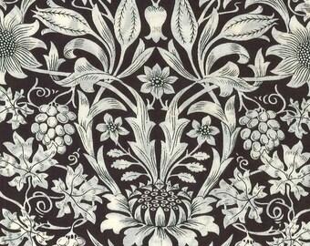 Theberton, Liberty Tana Lawn Fabric, Liberty of London, Liberty Japan, Floral Fabric, Chic Design, Art Fabric, Cotton Print Scrap, kt9157y