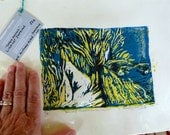 SALE - Lino cut  - Dancing Shadows - one of limited edition 6