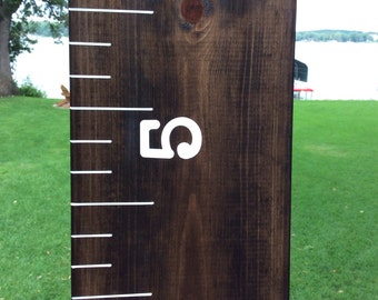 Wooden Growth Chart- Stained and Painted