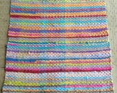 Bright Hand Dyed Rag Rug in Colorful Cotton Knits