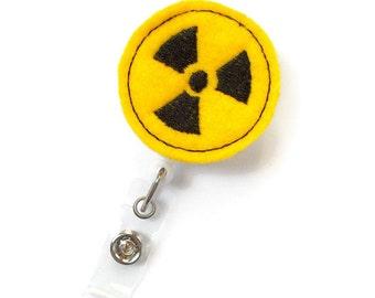 Radiology Badge - Retractable Badge Reel - Science Badge Holder - Radiation Badge - Medical Badges - Felt Badge - Radiologic Tech Badge - RT
