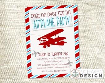 airplane // printable birthday invitation