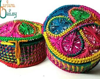 Handmade colorful jewelry box / sewing box