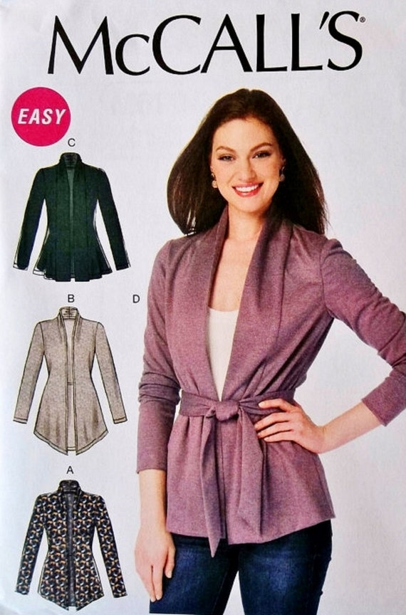 Stretch Knit Sewing Patterns : Cardigan Jacket Pattern Stretch Knit Jacket Pattern Unlined