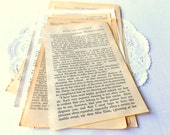 Vintage Jane Austen Pages / Pride and Prejudice / Persuasion / Mansfield Park / Emma / Sense & Sensibility