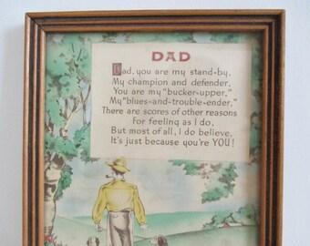 1930's Framed DAD Buzza Motto