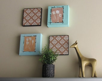 wall art collage - Spring Dream - 4- piece arrangement -  wall gallery - home decor