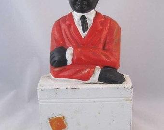 Black Americana Folk Art Cast Iron Bank