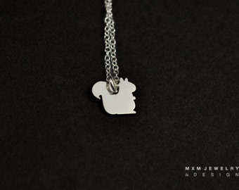 Silver or Gold Little Squirrel Necklace