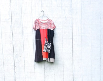 funky tattered romantic Dress - upcycled clothing women's clothing shabby chic artsy clothes by CreoleSha