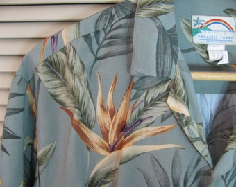 """Fabulous Made in Hawaii  Mens Rayon Shirt by """"Paradise Found"""" XL"""
