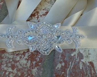 Rhinestone Bridal Belt, Crystal Belt, Bridal Sash, Bridal Belt, Fleur De Lis Belt, Crystal Bridal Belt, Crystal Bridal Sash