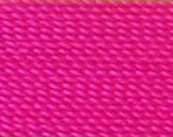 Omega #2  100% nylon thread 300 yard spool in Hot Pink