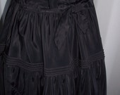 Long Black Goth Vintage Taffeta Full Skirt Dress