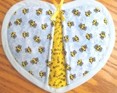 Bumble Bees in the Blue Sky Potholders - Set of 2