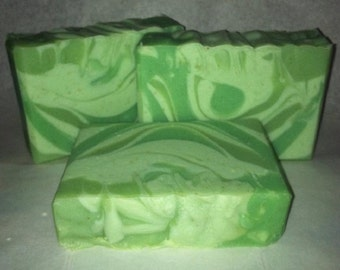 Green Clover & Aloe Type Handmade Soap