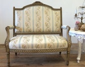Antique French Settee with Ribbon