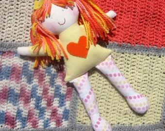 Rag doll/ Natural Eco-friendly soft cloth fabric doll
