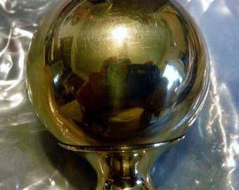 """One Brass 1 3/4"""" Finial For Antique Iron & Brass Beds 3/8"""" thread hard to find"""