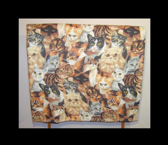 Large Furry Blanket Animal Cats Novelty Print Fabric