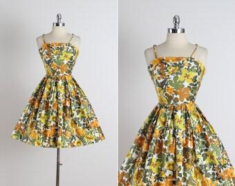 Sir Rob . vintage 1950s dress . vintage cotton dress . 5290