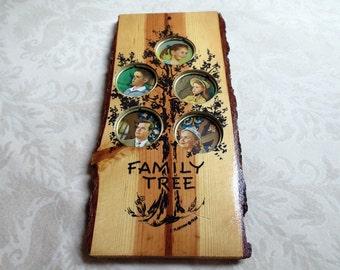 1960 Wood Family Tree Vintage Frame